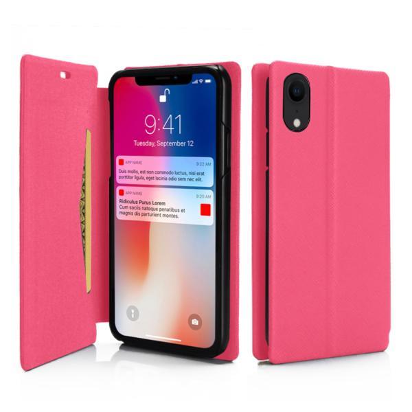 ポイント消化 iPhone XR ケース 手帳型 耐衝撃 スタンド機能 薄型 スタンド機能 カード収納ポケット Qi対応 シンプル おしゃれ iPhoneXR スマホケース 40s|forties|09