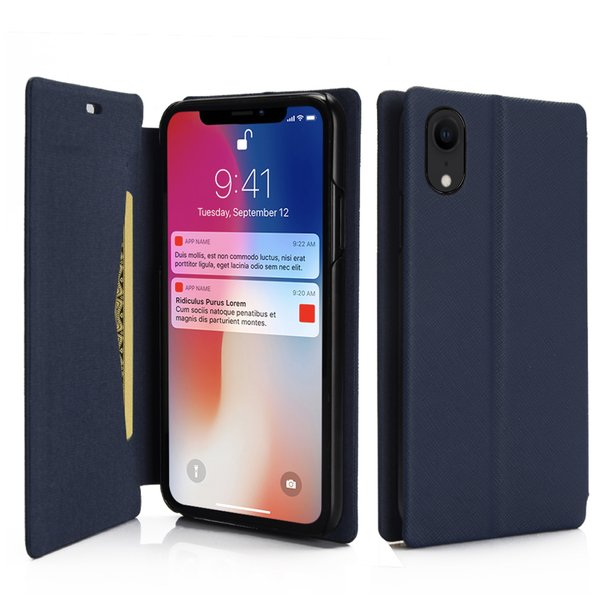 ポイント消化 iPhone XR ケース 手帳型 耐衝撃 スタンド機能 薄型 スタンド機能 カード収納ポケット Qi対応 シンプル おしゃれ iPhoneXR スマホケース 40s|forties|10