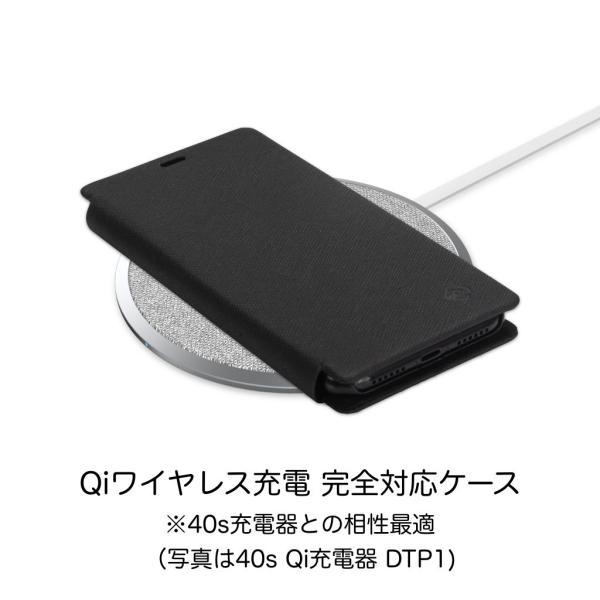 ポイント消化 iPhone XR ケース 手帳型 耐衝撃 スタンド機能 薄型 スタンド機能 カード収納ポケット Qi対応 シンプル おしゃれ iPhoneXR スマホケース 40s|forties|11