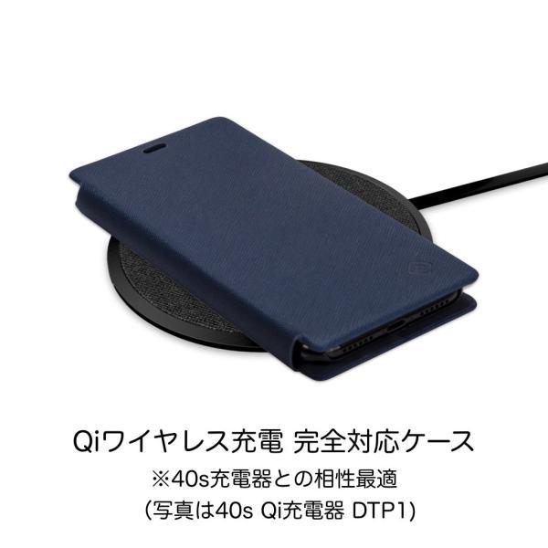 ポイント消化 iPhone XR ケース 手帳型 耐衝撃 スタンド機能 薄型 スタンド機能 カード収納ポケット Qi対応 シンプル おしゃれ iPhoneXR スマホケース 40s|forties|12