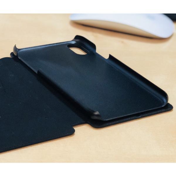 ポイント消化 iPhone XR ケース 手帳型 耐衝撃 スタンド機能 薄型 スタンド機能 カード収納ポケット Qi対応 シンプル おしゃれ iPhoneXR スマホケース 40s|forties|16