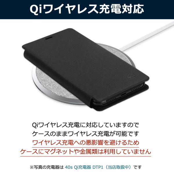 ポイント消化 iPhone XR ケース 手帳型 耐衝撃 スタンド機能 薄型 スタンド機能 カード収納ポケット Qi対応 シンプル おしゃれ iPhoneXR スマホケース 40s|forties|19