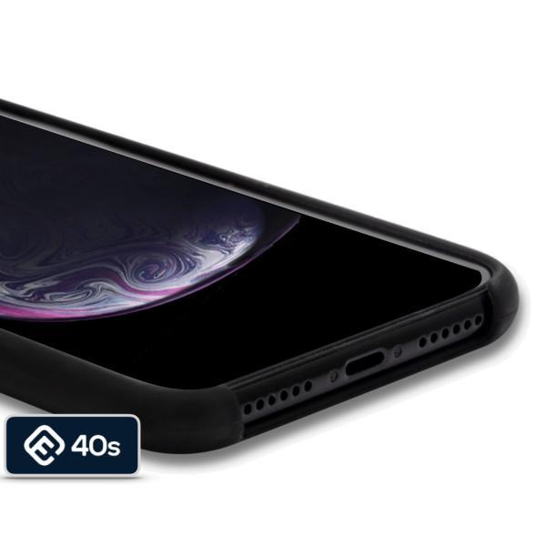 ポイント消化 iPhone XS ケース, iPhone XRケース, 耐衝撃 衝撃吸収 シリコン 薄型 軽量 ジャケット Qi対応 シンプル おしゃれ スマホケース 赤 黒 40s forties 11