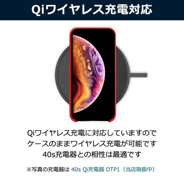 ポイント消化 iPhone XS ケース, iPhone XRケース, 耐衝撃 衝撃吸収 シリコン 薄型 軽量 ジャケット Qi対応 シンプル おしゃれ スマホケース 赤 黒 40s forties 04