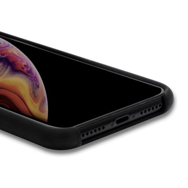 ポイント消化 iPhone XS ケース, iPhone XRケース, 耐衝撃 衝撃吸収 シリコン 薄型 軽量 ジャケット Qi対応 シンプル おしゃれ スマホケース 赤 黒 40s forties 08
