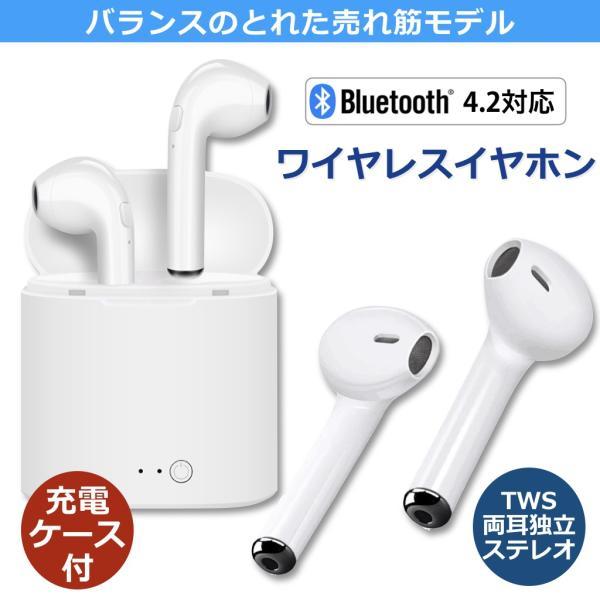 Bluetooth イヤホン 両耳 高音質 TWS ブルートゥース ワイヤレスイヤホン iPhone Android イヤフォン 充電ケース付 iPhoneXS XR XS Max対応 forties 02