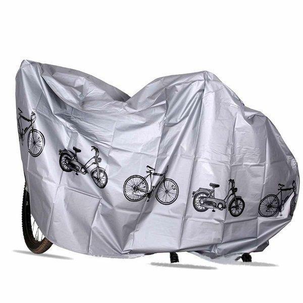 自転車カバー厚手防水自転車カバー自転車保管保護サイクルカバーマジックテープ留めグレー全1色