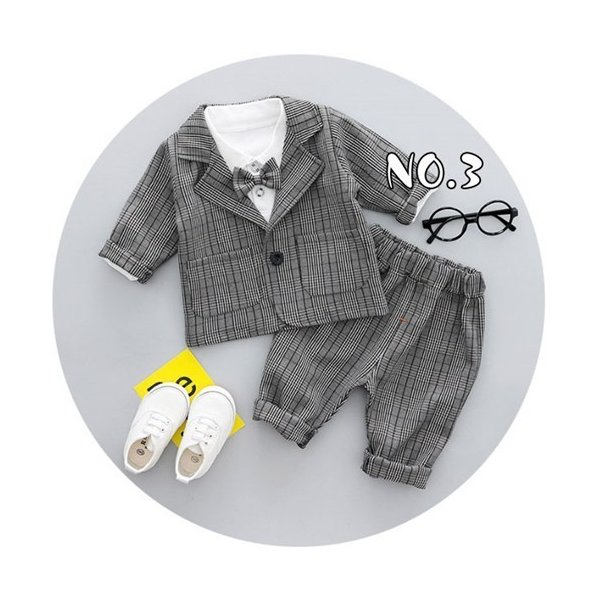 フォーマルスーツ 男の子 ベビー 3点スーツ 結婚式 ベスト/ズボン/シャツ キッズ 卒園式 入学式 入園式 フォーマル スーツ タキシード fortuna-gemma 04