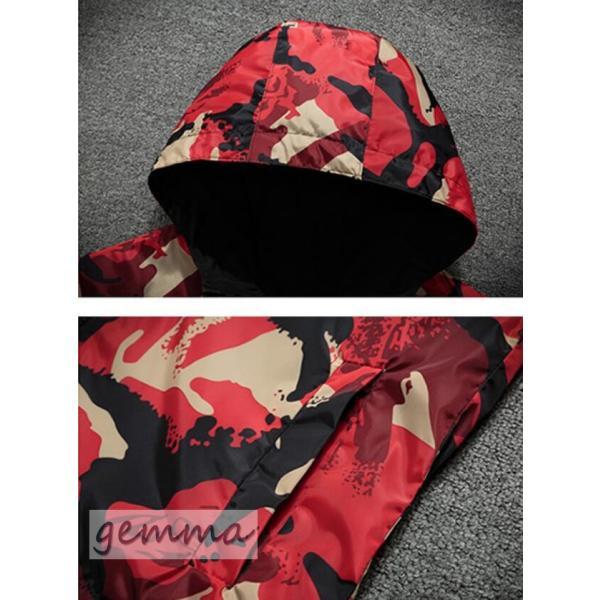 リバーシブル メンズ 迷彩柄 ジャンパー マウンテンパーカー メンズジャケット 薄手 ウインドブレーカー ジップパーカーブルゾン カジュアル オシャレ 防風 fortuna-gemma 11