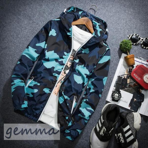 ウインドブレーカー  メンズ 迷彩柄 ジャンパー マウンテンパーカー メンズジャケット 薄手 ライトアウター ジップパーカーブルゾン カジュアル オシャレ 防風|fortuna-gemma|11
