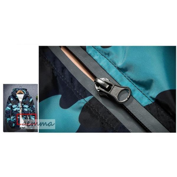 ウインドブレーカー  メンズ 迷彩柄 ジャンパー マウンテンパーカー メンズジャケット 薄手 ライトアウター ジップパーカーブルゾン カジュアル オシャレ 防風|fortuna-gemma|15