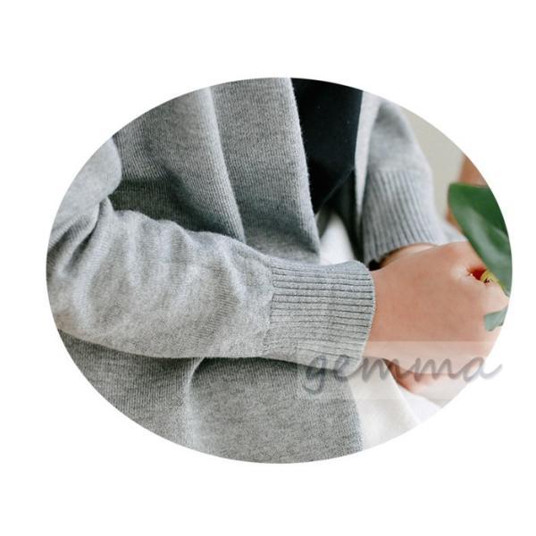 ニットカーディガン ロング丈 子供服 女の子ミモレ丈  前開き  長袖 羽織り アウター お出かけ 春秋 fortuna-gemma 05