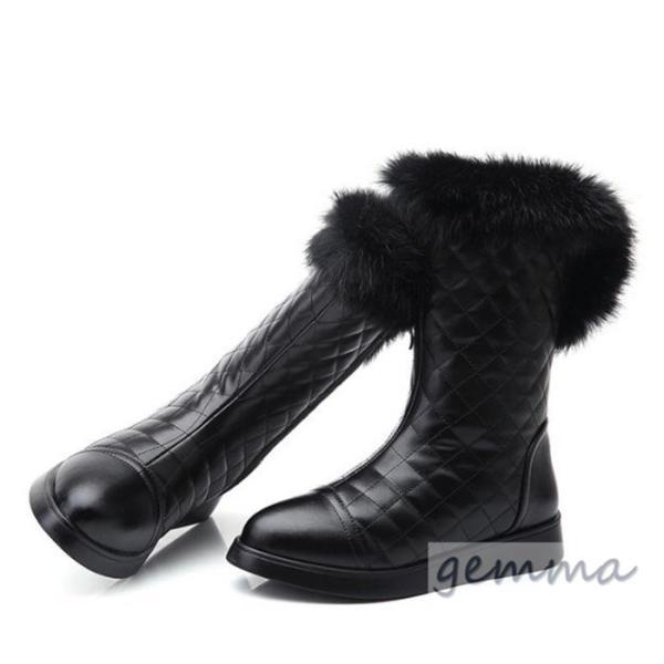 シューズ スノーブーツ ムートンブーツ レディース  革ブーツ PU 裏起毛 欧米風 暖かい 冬用 厚底ブーツ ロングブーツ 長靴 防寒