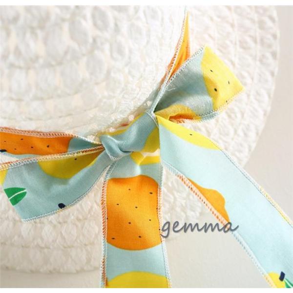 女の子 ワンピース 子供服 ミニ丈 ワンピース 赤ちゃん キッズ 夏 海  帽子付き  2点セット  可愛いドレス 綿 コットン  1~3歳 70~100cm|fortuna-gemma|09