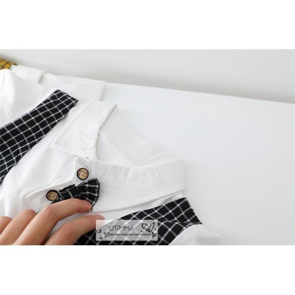 子供スーツ セットアップ キッズ タキシード  フォーマルスーツ シャツ  男の子  ベストTシャツ 重ね着 半袖 結婚式 誕生日 夏|fortuna-gemma|15