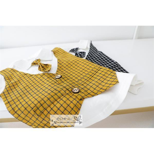 子供スーツ セットアップ キッズ タキシード  フォーマルスーツ シャツ  男の子  ベストTシャツ 重ね着 半袖 結婚式 誕生日 夏|fortuna-gemma|16