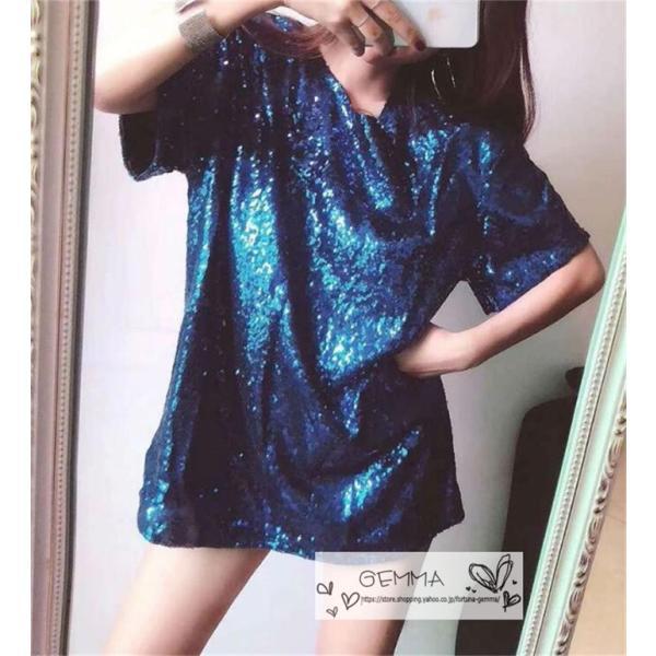 ダンス衣装 Tシャツ キラキラ ダンスウエア ヒップホップ トップス dance レディースガールズ ステージウェア DS ダンスウェア 舞台|fortuna-gemma|02