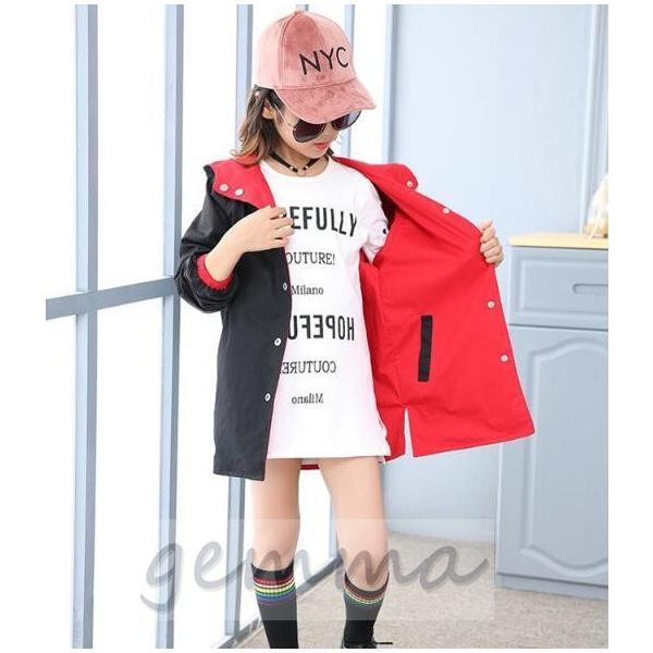 ウィンド ジャケット 両面着 キッズ 女の子 アウター 子供服 ジップアップパーカー マウンテンパーカー ブルゾンジャンパー 防風|fortuna-gemma|05