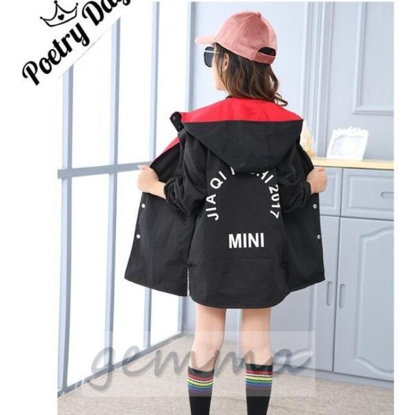 ウィンド ジャケット 両面着 キッズ 女の子 アウター 子供服 ジップアップパーカー マウンテンパーカー ブルゾンジャンパー 防風|fortuna-gemma|06