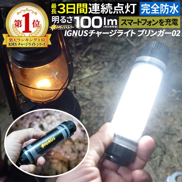 懐中電灯 LED作業灯 充電式ワークライト LEDチャージライト 白色光 LEDライト led ハンディライト 蛍光灯 投光器 IGNUS