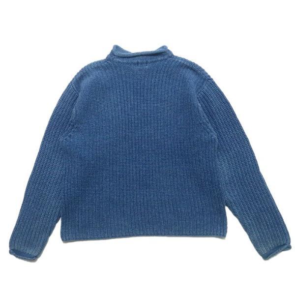 REAL Clothes インディゴ セーター コットン ニット ボトルネック サイズ表記:L|fortyone|02