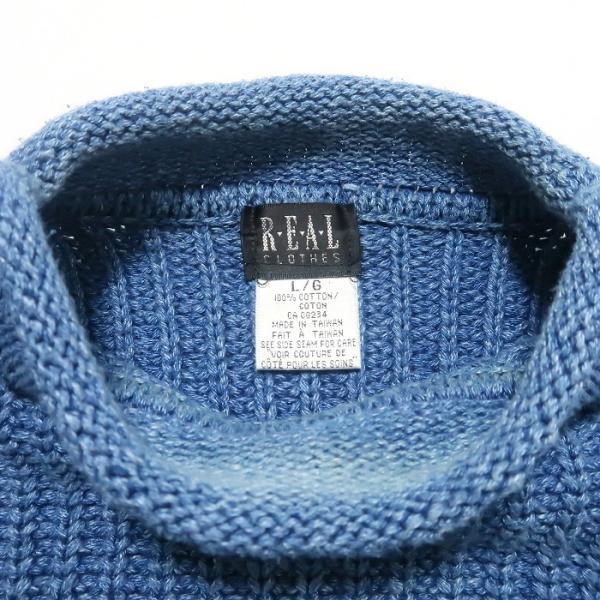 REAL Clothes インディゴ セーター コットン ニット ボトルネック サイズ表記:L|fortyone|03