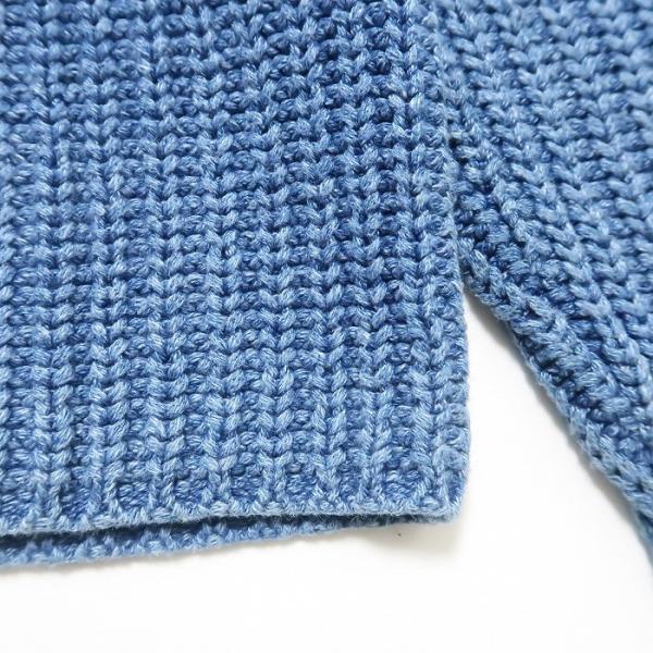 REAL Clothes インディゴ セーター コットン ニット ボトルネック サイズ表記:L|fortyone|04