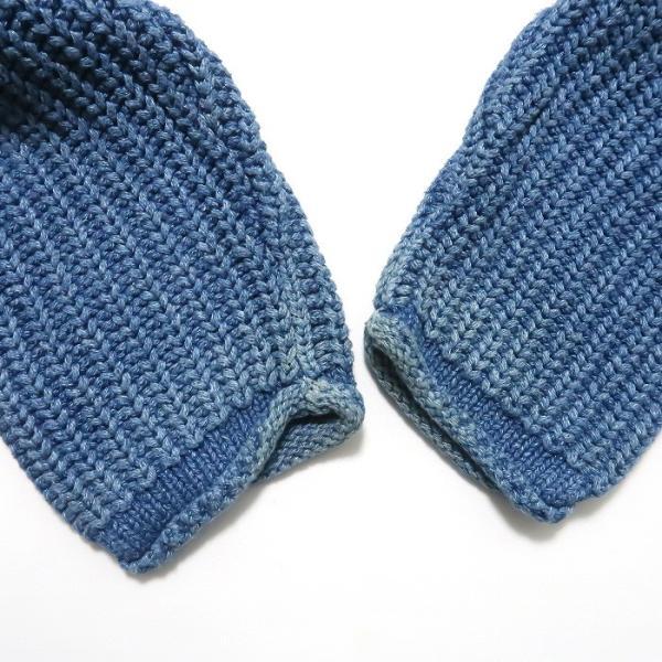 REAL Clothes インディゴ セーター コットン ニット ボトルネック サイズ表記:L|fortyone|05
