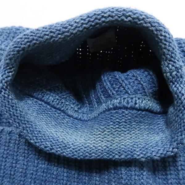 REAL Clothes インディゴ セーター コットン ニット ボトルネック サイズ表記:L|fortyone|06