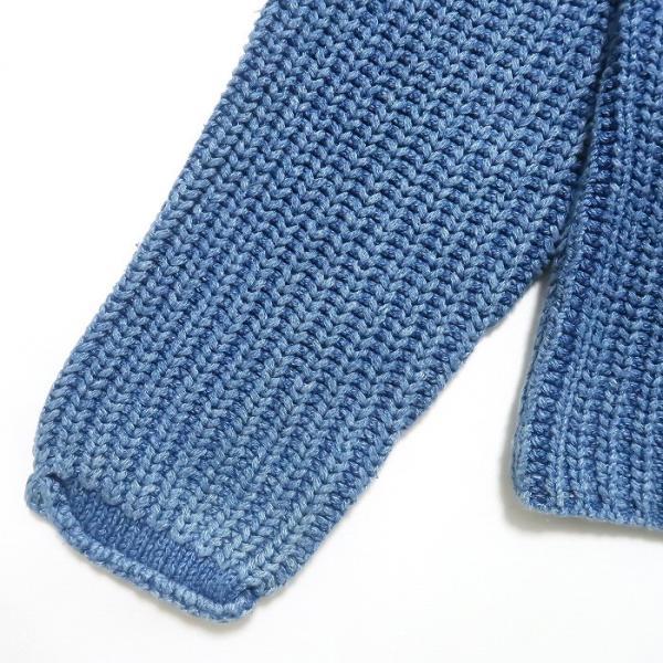 REAL Clothes インディゴ セーター コットン ニット ボトルネック サイズ表記:L|fortyone|08