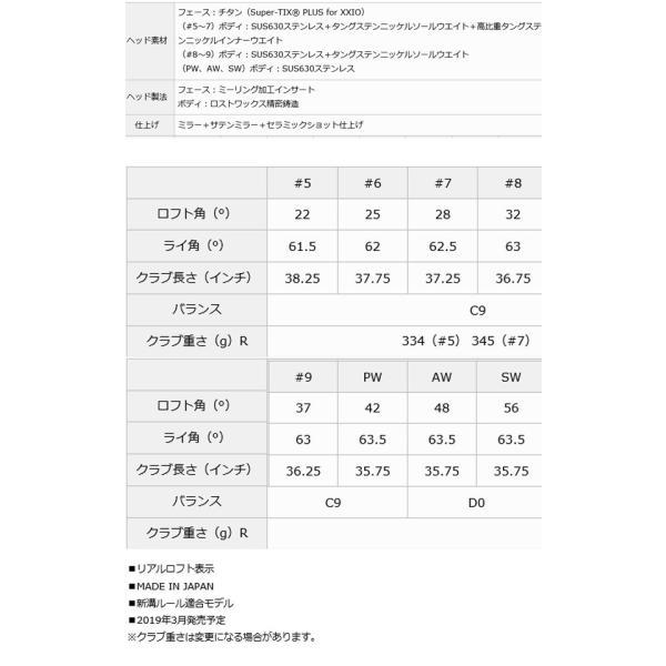 ゼクシオ プライム アイアンセット 単品(#5,#6,#7,#8,#9,PW,AW,SW)[純正 SP-1000] カーボンシャフト 2019 NEW XXIO PRIME forward-green 03