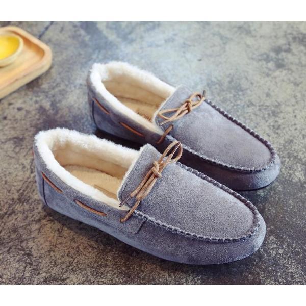 【ForYou】モカシン シューズ レディース 秋 冬 裏起毛 暖か 抗菌防臭 パンプス スエード ローヒール フラット ぺたんこ 靴 履きやすい 婦人靴 美脚 痛くない