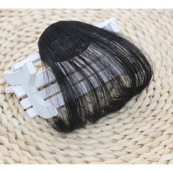 梱包の袋が破損してます。 レディース用 ウィッグ/ヘアアクセサリー ポイントウィッグ前髪(横髪無し) レディースウィッグ ナチュラルブラック