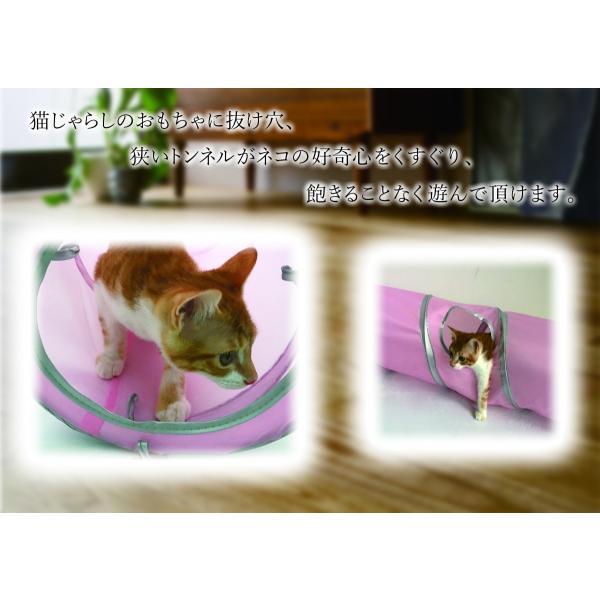 猫 おもちゃ トンネル ボール カシャカシャ 猫のおもちゃ スパイラル 猫じゃらし ペット用品 犬 ねこ キャットトイ four-piece 02
