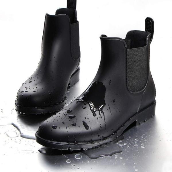レインブーツ レディース おしゃれ 梅雨 対策 ショート 雨 雪 すべり止め 長靴 雨靴 レインシューズ サイドゴア 防水 軽量 通勤 通学 誕生日 プレゼント|four-piece|11