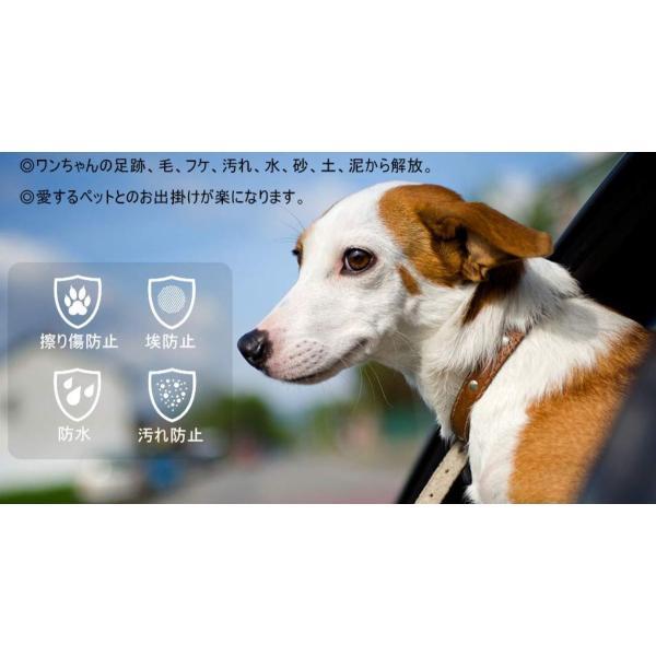 ドライブシート 犬 カバー 車 シートカバー ペットシート カーシート 車用 マットタイプ 防水 猫  シート ペット用 後部座席 ペットシーツ 薄型 小型犬 中型犬|four-piece|16