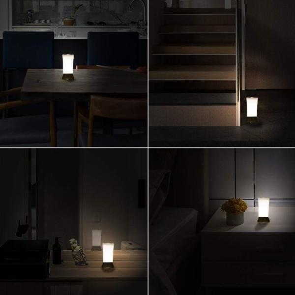 間接照明 センサーライト 屋内 屋外 おしゃれ インテリア LED フットライト 人感センサー おしゃれ 電池式 明るい 室内 玄関 寝室 廊下 階段 ナイトライト|four-piece|17