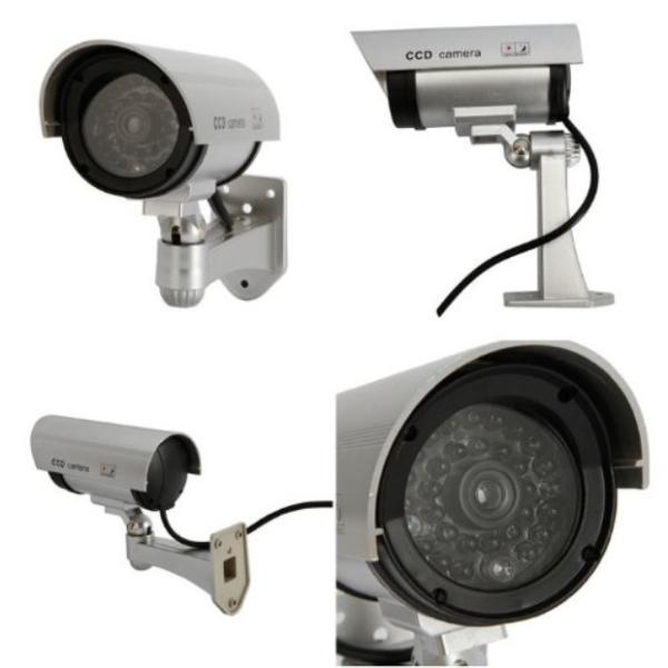 防犯カメラ 家庭用 屋外 屋内 ワイヤレス ダミー カメラ 電源不要 小さい ステッカー 付属 LED 点灯 電池式|four-piece|11