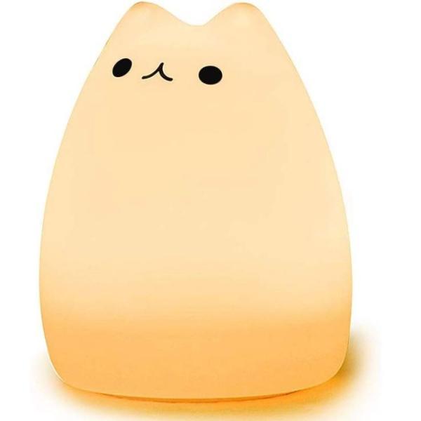 間接照明 おしゃれ LED ナイトライト 寝室 リビング インテリア ライト 猫 ベッドサイドランプ テーブルランプ  照明  電池式 かわいい コードレス|four-piece|12