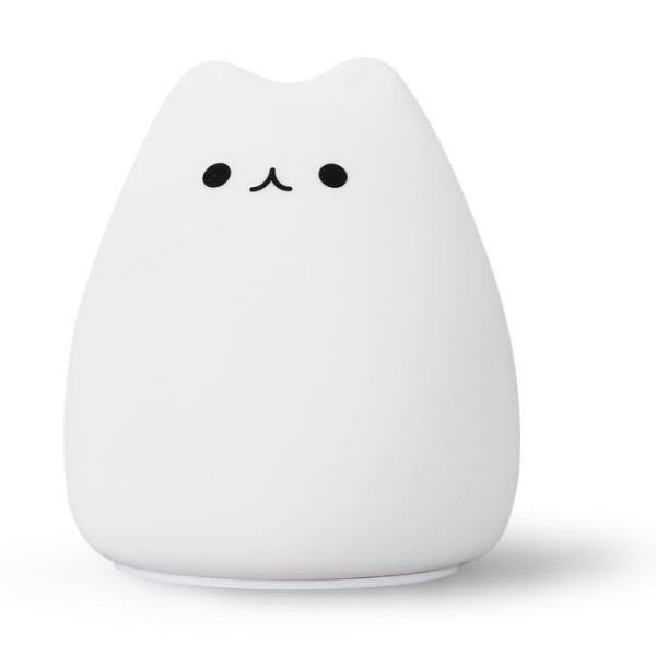 間接照明 おしゃれ LED ナイトライト 寝室 リビング インテリア ライト 猫 ベッドサイドランプ テーブルランプ  照明  電池式 かわいい コードレス|four-piece|13