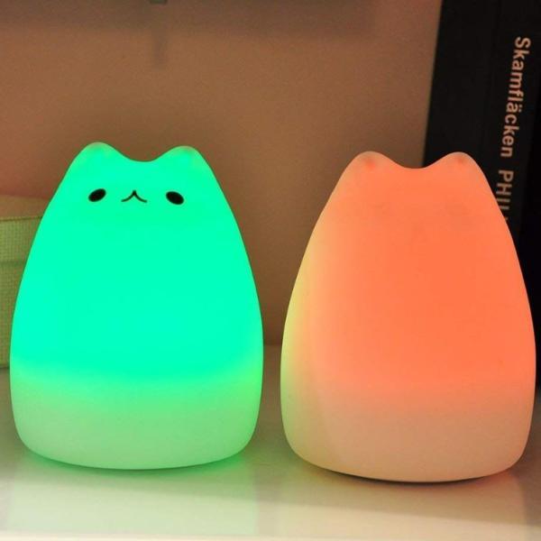 間接照明 おしゃれ LED ナイトライト 寝室 リビング インテリア ライト 猫 ベッドサイドランプ テーブルランプ  照明  電池式 かわいい コードレス|four-piece|07
