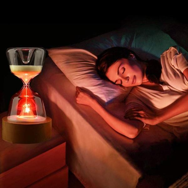 インテリア おしゃれ ライト 砂時計 15分 間接照明 寝室 リビング LED 調光 北欧 ナイトライト USB充電 コンセント不要 テーブルランプ ギフト プレゼント four-piece 07
