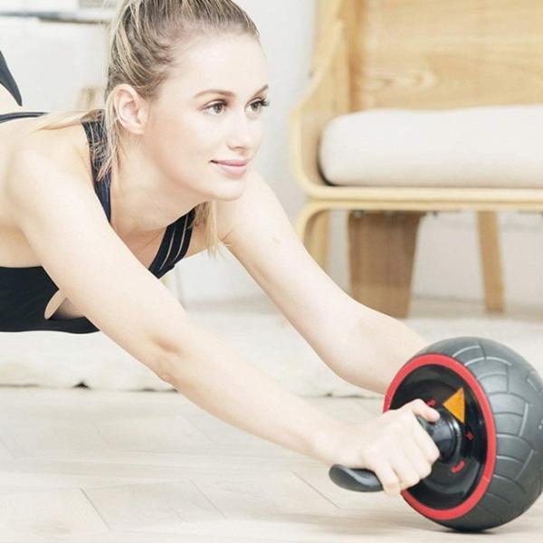 腹筋ローラー マット アシスト 機能 セット 初心者 上級者 静音 自動 筋トレ器具 一輪 エクササイズ トレーニング  マシン  アシスト付き マット付き|four-piece|13