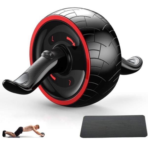腹筋ローラー マット アシスト 機能 セット 初心者 上級者 静音 自動 筋トレ器具 一輪 エクササイズ トレーニング  マシン  アシスト付き マット付き|four-piece|10