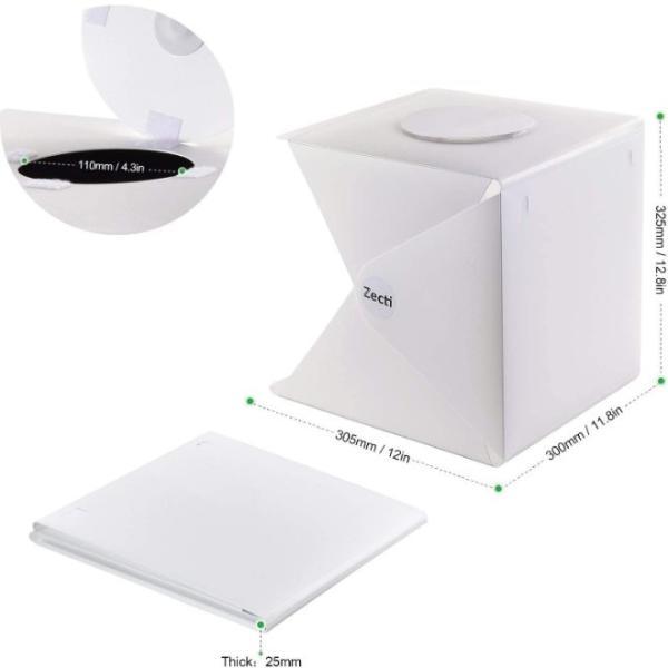 撮影キット 撮影ボックス LED ライト 撮影ブース 撮影BOX 写真撮影 メルカリ ヤフオク 出品 撮影 背景布 小道具 機材 証明 写真撮影キット 写真撮影セット|four-piece|15