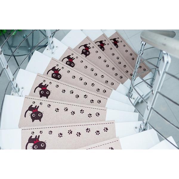 階段マット 折り曲げ 滑り止め 15枚 おしゃれ 子供 マット 犬 猫 ペット 洗える 吸着 防音 吸着マット キズ防止 大判 防音 ラグ カーペット シート ペット 騒音|four-piece|16