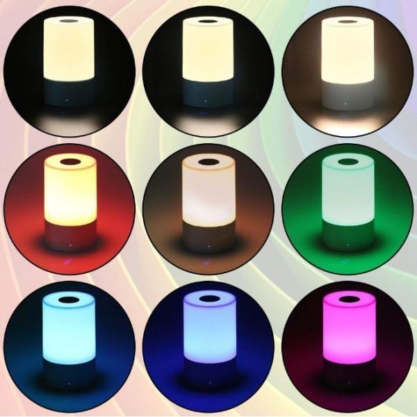 インテリア ライト 7色 間接照明 コードレス おしゃれ 北欧 LED 寝室 リビング ベッドサイドランプ テーブルランプ インテリア 照明 ナイトライト USB充電 four-piece 06