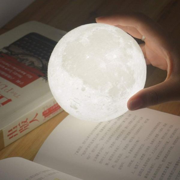 インテリア ライト 月 間接照明 おしゃれ LED 北欧 寝室 リビング  ベッドサイドランプ テーブルランプ 月のランプ 照明 ナイトライト USB充電 Lサイズ four-piece 16