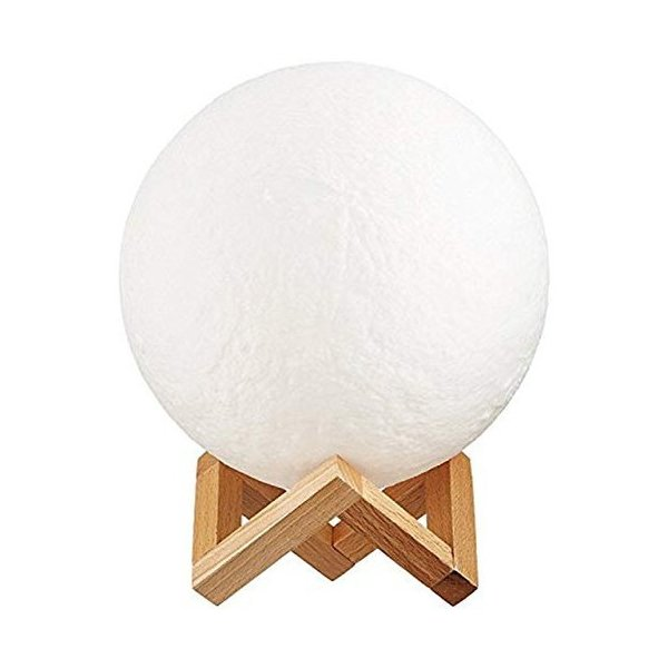 インテリア ライト 月 間接照明 おしゃれ LED 北欧 寝室 リビング  ベッドサイドランプ テーブルランプ 月のランプ 照明 ナイトライト USB充電 Lサイズ four-piece 09