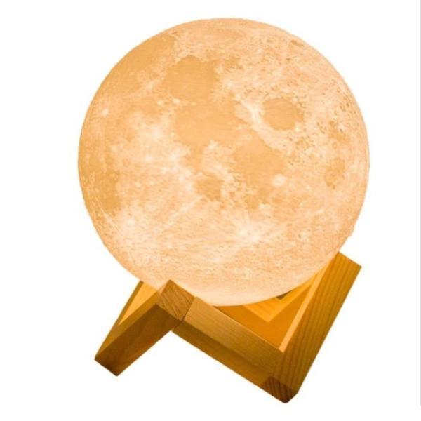 インテリア ライト 月 間接照明 おしゃれ LED 北欧 寝室 リビング  ベッドサイドランプ テーブルランプ 月のランプ 照明 ナイトライト USB充電 Lサイズ four-piece 10
